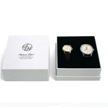 Caixa de relógio de papelão branco personalizado