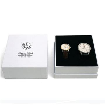 Boîte de montre en papier carton blanc personnalisée