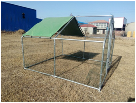 metal chicken kennel