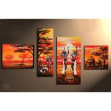 Pintura a óleo africana Handmade da arte de 100% na lona (AR-148)
