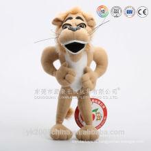 Melhor feito de pelúcia brinquedos de pelúcia rujir leão brinquedos com som