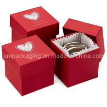 Two Piece Red Rigid Set up Cupcake Box