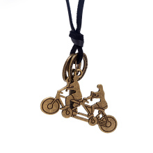 Bike Shape Pendant Women Leather Vintage Necklace
