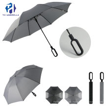 Compact & Simple Design Folding Auto Open Umbrella with Solid Color