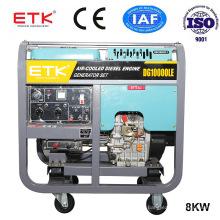 8kVA Single Phase Air Cooled Diesel Generator