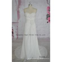 Chiffon Perlen Brautkleid, Brautkleid für die Hochzeit