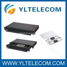 Cassette pour FO l'épissage 24 core fibre optique d'épissage plateau
