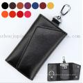 OEM Logo Multifunctional Soft Leather Key Bag with Hook
