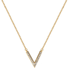 14K Pated letter V necklace Women fashion trending Sterling silver necklace