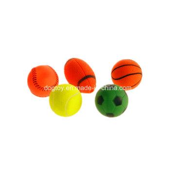 Jouets bon marché pour les jouets en gros de balles en vinyle pour animaux de compagnie