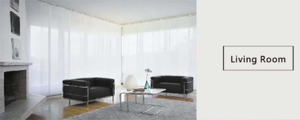 Panel Curtain Track Blinds