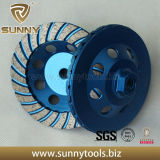 Double Turbo cup diamond grinding wheel for stone