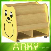 Mobilier en bois de maternelle Ensemble de dessin animé pour dessin animé Bibliothèque mobile