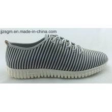 Moda casual Flyknit Lace-up sapatos para homens