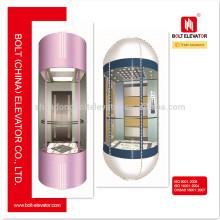 2015 China Venta caliente residencial panorámica elevador elevador de turismo