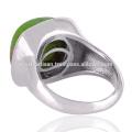 Natürlicher grüner Kupfer-Türkis-Edelstein 925 fester silberner Ring