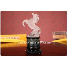 Élégant cristal animaux Figurine cheval artisanat pour cadeau
