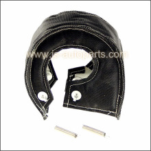 T4 BLACK TURBO CHARGER HEAT SHIELD BLANKET FIBER