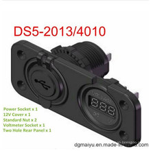 5В вольтметр гнездо и 2port USB разъем