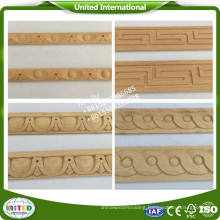 Flat wood moulding/wooden carved moulding