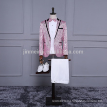 2018 New Arrival Pink Sequined Men Suits 5 pieces Swallowtail Factory Wholesale