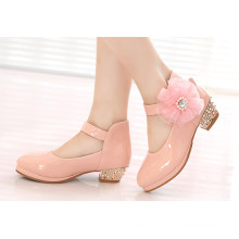 PU Children Shoes Dress Shoes Kids Shoes for Girl