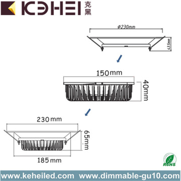 230mm LED Shop allume 30W Downlights de 8 pouces