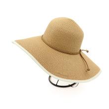 Chapéu de praia retrô de aba grande chapéu de palha fedora