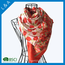 Tulip Prints Large Square 90 * 90 Cm Scarf