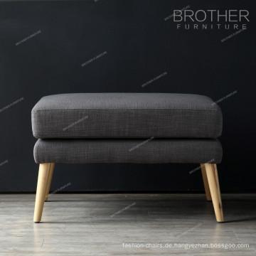 Wohnzimmermöbel Holzbeine Stoff Tufted Puff Hocker Ottomane