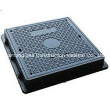 Couvercle d'égout carré, couvercle en fibre de verre, couvercle d'égout à main en FRP / GRP.