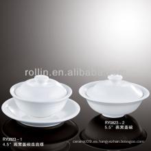 Estilo japonés sano blanco tazón de sopa especial duradera