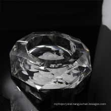 Factory supply attractive price fashion image crystal ashtray