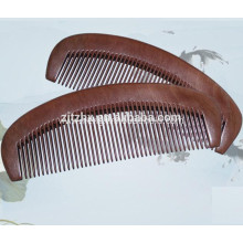 Anti-static Half Moon Peach Wide Teeth Comb