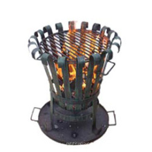 Steel Chiminea (FSL025) Outer Door Charcoal Heater, Fire Basket
