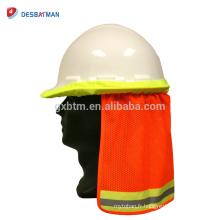 Haute visibilité réfléchissant 100% polyester tissu casque de sécurité casque de protection solaire chapeau stripe chapeau de sécurité