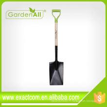 Pelle de jardin Square Tools à outils agricoles avec lame de 7,1 / 4 po