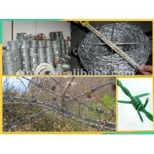clôture de barbelé enduit de PVC (usine de la Chine)
