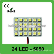 24 pcs 5050 SMD 12V auto led dome light