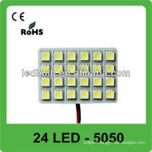 24 pcs 5050 SMD 12V auto led dome light