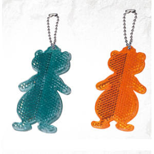 Reflective safety bear shape keychain