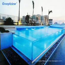 Factory High transparent acrylic swimming pool
