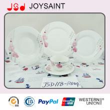 Taza de porcelana pintada a mano redonda de 10 ''