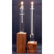 Buntes Glas Kerze-Halter/Kerze zu löschen