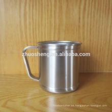 respetuoso del medio ambiente impreso precio caliente al aire libre acero inoxidable café tazas con tapa