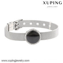 74602 Fashion Cool Ceramic Stainless Steel Jewelry Watch Bracelet