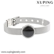 74602 moda legal cerâmica aço inoxidável relógio pulseira de jóias