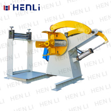 Steel  Coil Automated Decoiler Working In Steel Coil Cutting Line