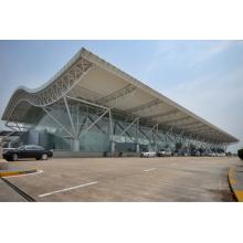 Large Span Pipe Truss Roof para Terminal