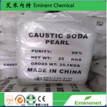 Фабричное снабжение SGS 99% Жемчуг каустической соды (гидроксид натрия)